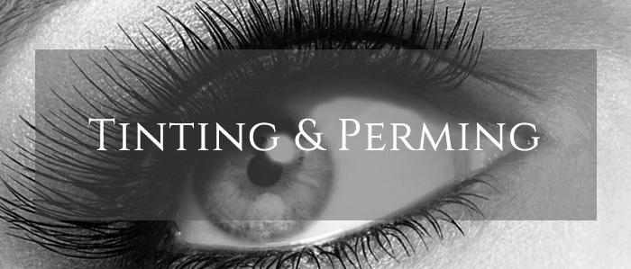 eyelash tinting and perming