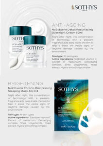 Sothys Noctuelle Night Cream has been formulated with lactic acid to exfoliate and promote cell turnover.